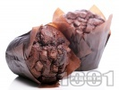 Рецепта Мъфини с какао, кафе и парченца шоколад